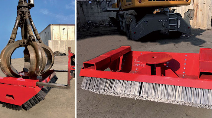 CRANE ATTACHMENT INDUSTRIAL BROOM