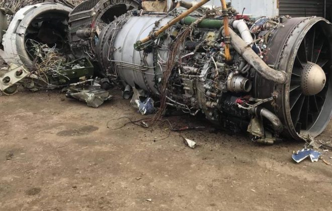 airplane engine scrap